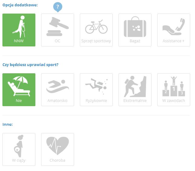 kolejne trzy pytania, m.in. o opcje dodatkowe i sport